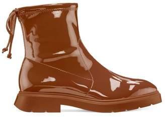 Stuart Weitzman The Benita Flat Vinyl Boot