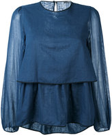 Odeeh layered blouse - women - Cotton - 40