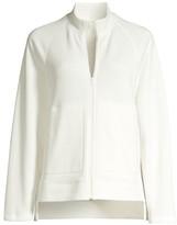Eileen Fisher Funnel Neck Zip-Up Jacket