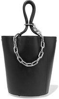 Alexander Wang Roxy Chain-embellished Leather Tote - Black