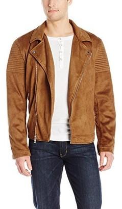 GUESS Men's Asymmetrical Biker Jacket