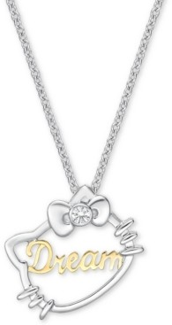 "Chow Tai Fook Diamond Accent Hello Kitty Dream 18"" Pendant Necklace in 18k Gold & White Gold"
