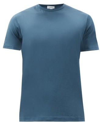 Sunspel Cotton-jersey T-shirt - Dark Blue