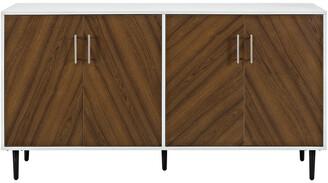 Hewson 58In Modern Wood Buffet Storage Cabinet