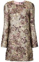 Dolce & Gabbana floral cloqué dress