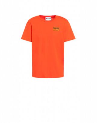 Moschino Label Jersey T-shirt Man Orange Size 44 It - (34 Us)