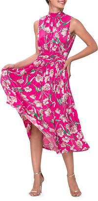 Leota Mindy Printed Sleeveless Midi Dress