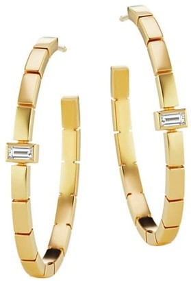 Maria Canale Barre 18K Yellow Gold & Diamond Hoop Earrings