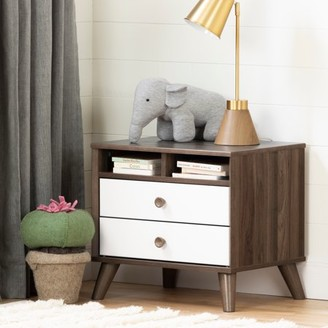 South Shore Yodi 2-Drawer Nightstand, Multiple Finishes