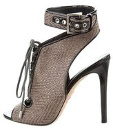 Brian Atwood Woven Peep-Toe Pumps