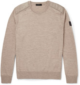 Belstaff Kerrigan Quilted Shell-Trimmed Wool Sweater