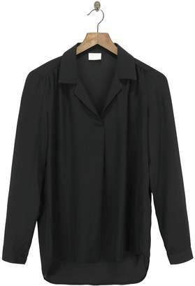 Vila Black Polyester Basic Blouse - s | polyester | black - Black/Black