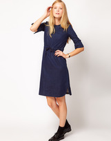 NW3 by Hobbs Chambray Dress with Collar Detail