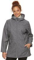 ZeroXposur Plus Size Raven Hooded Long Soft Shell Jacket