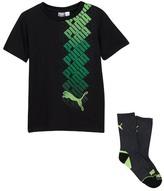 Puma Graphic Tee & Crew Socks Set (Big Boys)