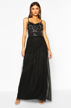 boohoo Boutique Embellished Prom Maxi Dress