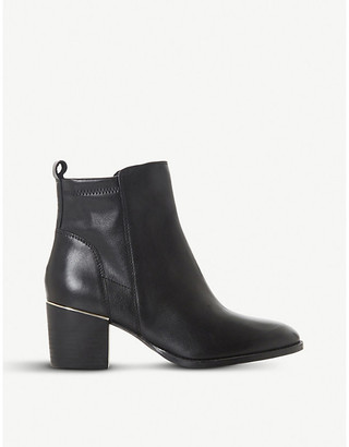Dune Penndra metal-trim leather ankle boots