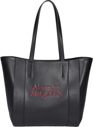 Alexander McQueen Signature Logo Tote Bag