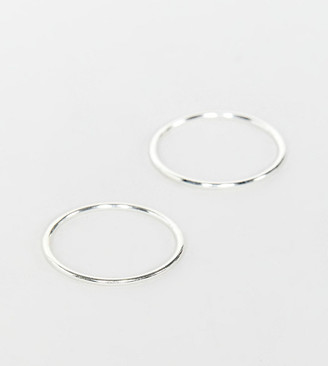 Kingsley Ryan 2 pack band rings in sterling silver