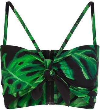 Dolce & Gabbana Palm Leaf Gathered Top