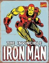 Iron Man Retro Tin Sign , 12x16