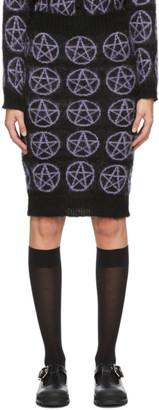 Ashley Williams Black Pentagram Mid-Length Skirt
