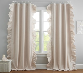 Pottery Barn Kids Evelyn Ruffle Border Blackout Curtain Panel