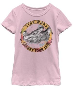 Star Wars Big Girls Millennium Falcon Galaxy Tour Short Sleeve T-Shirt
