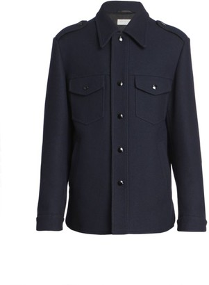 Dries Van Noten Vale Military Wool-Blend Jacket