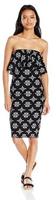 Derek Heart Women's Tarin's Strapless Bodycon Midi