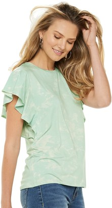 Apt. 9 Women's Ruffle Sleeve Top