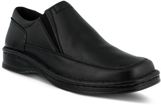 Spring Step Men's Slip-On Leather Square-Toe Loafers - Enzo