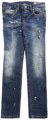 Diesel Distressed Stretch Cotton Denim Jeans
