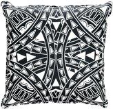 "Lorena Gaxiola Tattoo Accent Pillow, Black/White, 20"" - Black/White - 20 in. x 20 in."