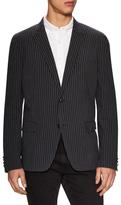 John Varvatos Striped Peak Lapel Soft Jacket
