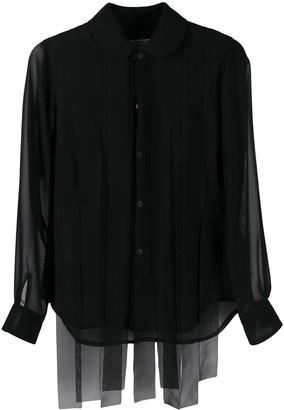 Comme des Garçons Comme des Garçons Sheer-Panelled Shirt