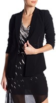 Haute Hippie We Will Meet Again Lamb & Silk Combo Blazer
