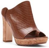 Donald J Pliner Women's JENA - Embossed Lizard Leather Heeled Sandal