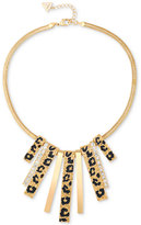 GUESS Gold-Tone Animal-Look Stick Collar Necklace