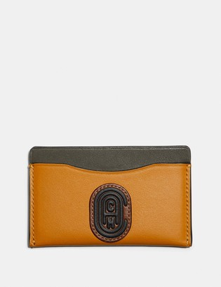 Coach Small Card Case In Colorblock With Patch
