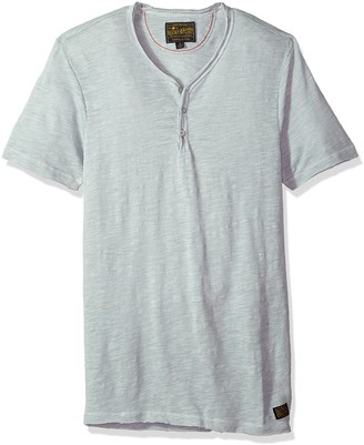 Lucky Brand Men's RAW Edge Y Neck Henley Shirt