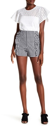Rachel Roy Calle Gingham Ruffle Shorts (Regular & Plus Size)