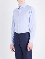 Drakes Regular-fit Bengal stripe cotton-poplin shirt