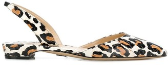 Paul Andrew Leopard Printed Sling-Back Sandals