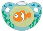 NUK Cute as a Button Sea Creatures Pacifier in Assorted Colors and Styles, 6-18 Months, 2 Count by
