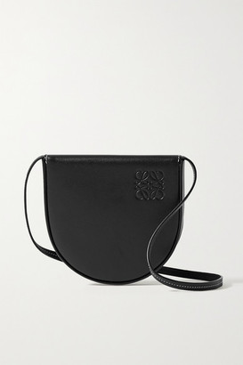 Loewe Heel Small Leather Shoulder Bag - Black