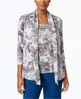 Alfred Dunner Arizona Sky Layered-Look Necklace Top