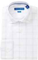 Vince Camuto Check Trim Fit Dress Shirt