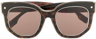 Burberry Eyewear Cat Eye Tortoise Shell Sunglasses