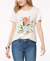 Style&Co. Style & Co Cotton Floral-Embroidered T-Shirt, Created for Macy's
